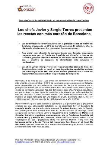 Los chefs Javier y Sergio Torres presentan las recetas con más ...
