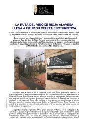 La ruta del vino de rioja Alavesa lleva a Fitur su oferta Enoturistica