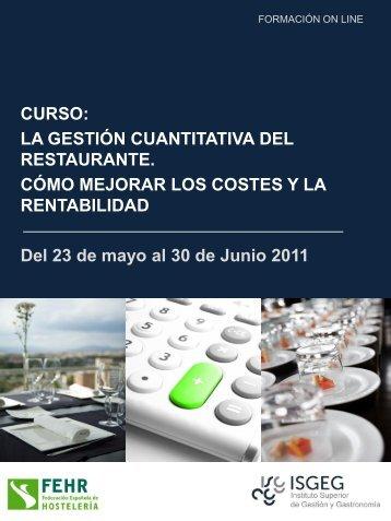 Curso gestión de costes - RestaurantHotelBar.com