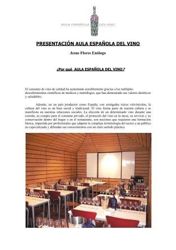 presentación aula española del vino - RestaurantHotelBar.com