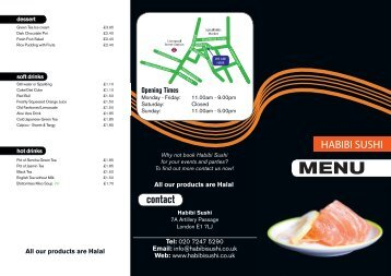 Download the Habibi Menu - UK Restaurant Menus