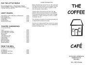 The Coffee Cafe Menu - UK Restaurant Menus