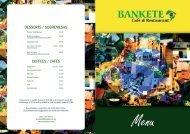 Download the Bankete Menu - UK Restaurant Menus
