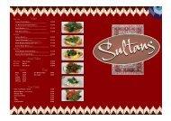 Download the Sultans Menu - UK Restaurant Menus