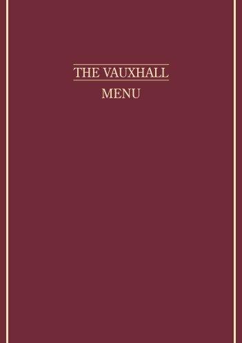 Download the Vauxhall Menu - UK Restaurant Menus