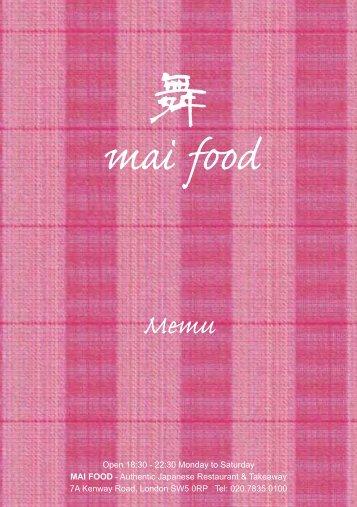 mai food - UK Restaurant Menus