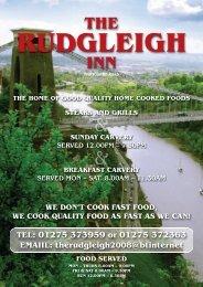 Download the Rudgleigh Menu - UK Restaurant Menus