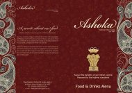 Food & Drinks Menu Ashoka - UK Restaurant Menus