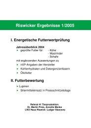 Riswicker Ergebnisse 1/2005