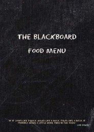 Download the Beansheaf Blackboard Menu - UK Restaurant Menus