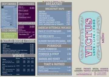 Download the Victus Menu - UK Restaurant Menus