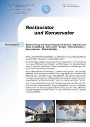 Restaurator und Konservator - Oskar Emmenegger & Söhne AG ...