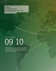 Annual Report Magazine Germany. Brazil. USA. Three countries ...