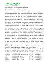 Merkblatt für den Spitaleintritt - Restless Legs Schweiz