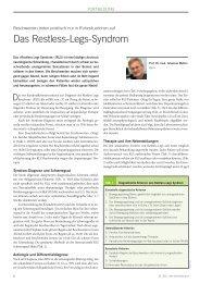 das Restless-Legs Syndrom mit diagnostischen Kriterien zum ...