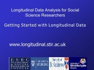 Getting Started with Longitudinal Data - ReStore
