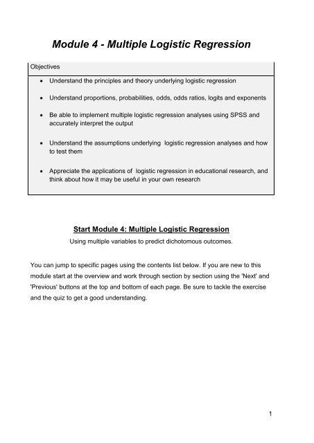 Module 4 - Logistic Regression PDF