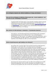 Alle FAQ's als pdf - Swiss Resuscitation Council