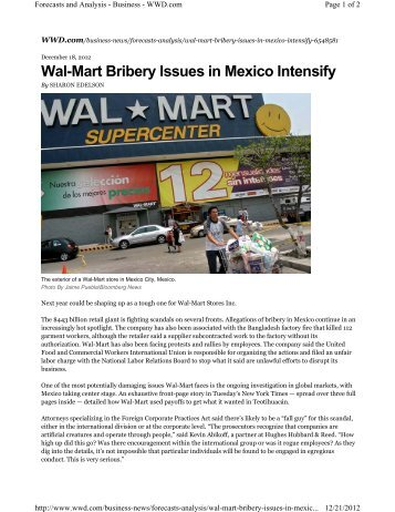 wal marts effect on america Vermont, wal-mart's opponents argue that the state's economy and culture   president of the trust, told the new york times, we know the effects that these.