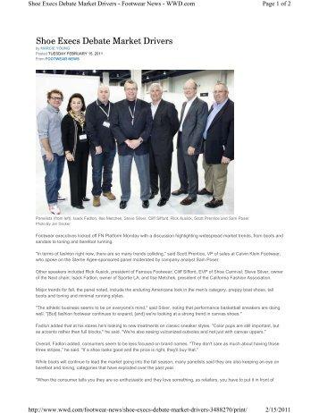 Shoe Execs Debate Market Drivers - Retail Geeks