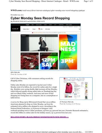Cyber Monday Sees Record Shopping - Retail Geeks