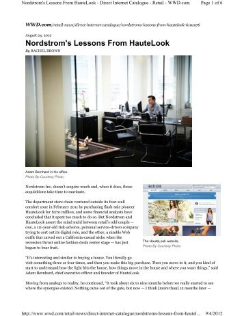 Nordstrom's Lessons From HauteLook - Retail Geeks