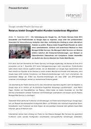 Pressemeldung Google/Postini Migration - Retarus
