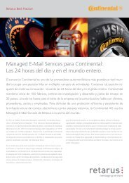 Managed E-Mail Services para Continental: Las 24 horas ... - Retarus