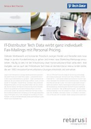 IT-Distributor Tech Data wirbt ganz individuell: Fax ... - Retarus