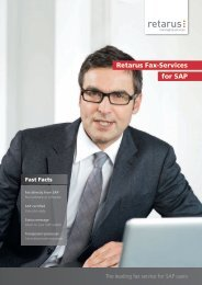 Retarus Fax-Services for SAP