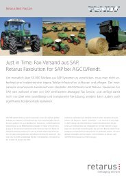 Fax-Versand aus SAP. Retarus Faxolution for SAP bei AGCO/Fendt.