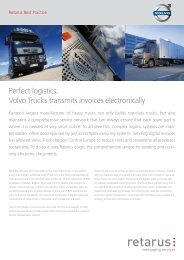 Volvo Trucks transmits invoices electronically - Retarus