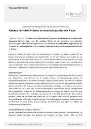 Pressemeldung - Retarus verstärkt Präsenz in APAC