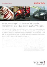 Retarus Managed Fax Services bei Honda: Transparent, skalierbar ...