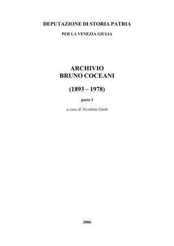 Inventario parziale - Archivio di Stato di Trieste