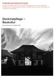 Denkmalpflege – Baukultur - Reticulum Artis