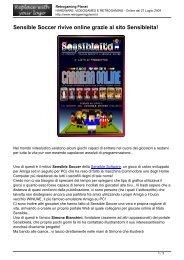 Sensible Soccer rivive online grazie al sito Sensibleita!