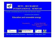 Education and renewable energy - RETS Project