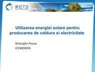 Utilizarea energiei solare pentru producerea de ... - RETS Project