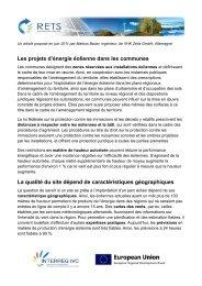 Les projets d'énergie éolienne dans les communes ... - RETS Project