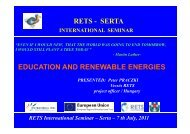 Education and Renewable Energies - RETS Project
