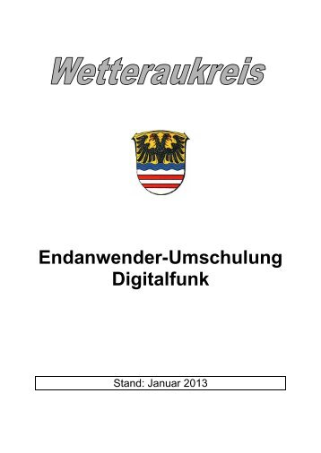 Endanwender-Umschulung Digitalfunk - Rettungsdienst Wetteraukreis