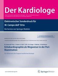 Echokardiographie als Wegweiser in der Peri- Reanimation
