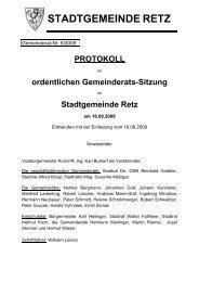 GR-Sitzungsprotokoll 6/2009, PDF - Retz