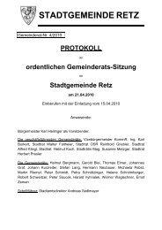 GR-Sitzungsprotokoll 4/2010, PDF - Retz