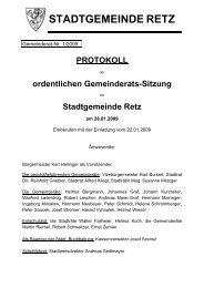 GR-Sitzungsprotokoll 2009-01 - .PDF - Retz