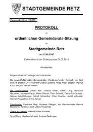 GR-Sitzungsprotokoll 2010-07 - .PDF - Retz