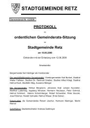 GR-Sitzungsprotokoll 2008-04 - .PDF - Retz
