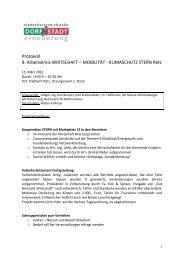 Protokoll 8. Arbeitskreis WIRTSCHAFT – MOBILITÄT ... - Retz