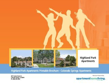Highland Park Apartments Printable Brochure ... - Apartments For Rent